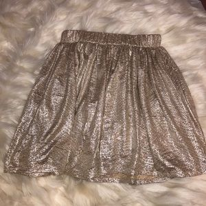 Aeropostale Skirts - Women's Shimmery Gold Party Skirt